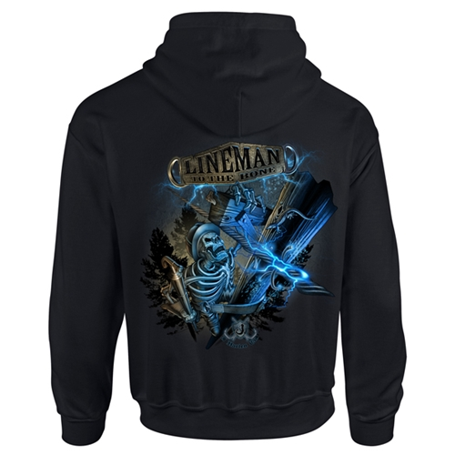 """Lineman To The Bone"" Black Hooded Sweatshirt CLOSEOUT"