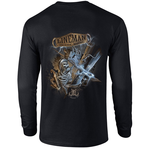 """Lineman To The Bone"" Black Long Sleeve Tee CLOSEOUT"