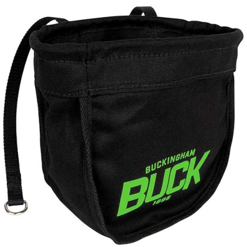 Buckingham Black Canvas Bolt Bag With Magnet