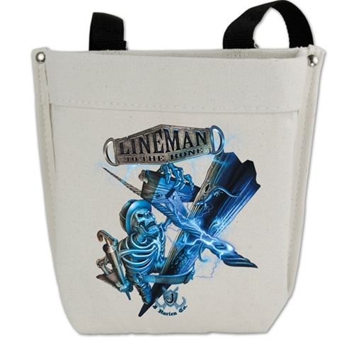 Lineman To The Bone Canvas Bolt Nut Bag