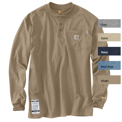 Carhartt Fr Force Cotton Long Sleeve Henley 100237 J Harlen Co