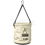 Load Rated Canvas Bucket For Overhead Lifting