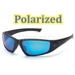 Crossfire RPG Polarized HD Blue Mirror Lens With Matte Black Frame Safety Glasses