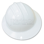 Bullard Classic C33 White Full Brim Hard Hat With Ratchet Suspension