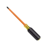 "Klein #2 x 4"" Round Shank Phillips-Tip Screwdriver, 1000v Insulated"
