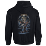 """Backbone Of America"" Black Hooded Sweatshirt CLOSEOUT"