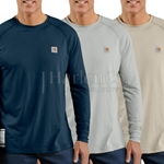 Carhartt Flame-Resistant Work-Dry Long Sleeve T-Shirt HRC-1 CLOSEOUT