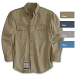 Carhartt Flame-Resistant Twill Shirt With Pocket Flaps - 4 Colors HRC-2