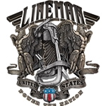 """Lineman Power The Nation"" Window Decal"