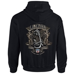 """Power The Nation"" Black Hooded Sweatshirt CLOSEOUT"
