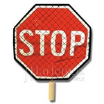 "18"" Roll-Up Stop/Slow Paddle Sign"