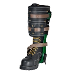 Buckingham Steel Climbers With 2-Strap Leather Pads
