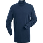 Bulwark FR Mock Turtleneck Navy Shirt
