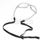 Tubular Cord Secures Safety Glasses
