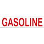 "Safety Label ""GASOLINE"""