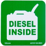 "Safety Label ""Diesel Inside"""