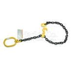 "Pole Lifting Chain Choker Sling, 3/8"" x 5Ft, 7,100 lbs"