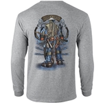 """Backbone of America"" Gray Long Sleeve Tee CLOSEOUT"