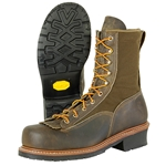 "Hall's 8"" Steel Toe, Lace-To-Toe Lineman's Boot"