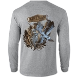 """Lineman To The Bone"" Gray Long Sleeve Tee CLOSEOUT"