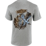 """Lineman To The Bone"" Gray Short Sleeve Tee CLOSEOUT"