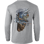 """Lights Back On!"" Gray Long Sleeve Tee"