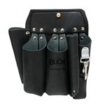 Buckingham 5 Tool Short Back Black Leather Pouch