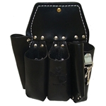 Buckingham 5 Tool Black Leather Pouch