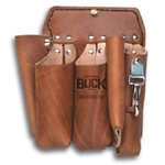 Buckingham 5 Tool Short Back Brown Leather Pouch