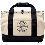 "Klein 18"" Leather Bottom Canvas Tool Bag"
