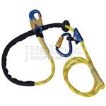 Aluminum CYNCH-LOK™ 8' Adjustable Positioning Lanyard