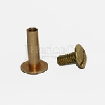 Brass Barrel Screw & Nut for Leather Pouches