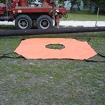 Dirt Skirt™ 10'x10' Pole BackFill Tarp CLOSEOUT