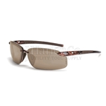 Crossfire ES5 HD Brown Flash Mirror Lens With Crystal Brown Frame Safety Glasses