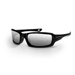 Crossfire M6A Silver Mirror Lens With Pearl Black Frame Safety Glasses