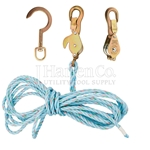 Klein 25Ft Block & Tackle With Snubbing Hooks