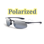 Crossfire ES4 Silver Mirror Polarized Lens With Crystal Black Frame Safety Glasses
