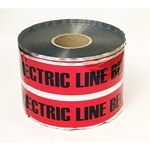 "Red 6""x1000' Underground Warning Tape - Detectable"