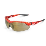 Crossfire CIRRUS Gold Mirror Lens and Burnt Orange Frame Safety Glasses