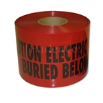 "Red 6"" x 1000' URD Caution Warning Tape - CLOSEOUT"