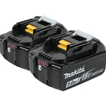 Makita 18V LXT® Lithium-Ion 5.0Ah Battery 2-Pack