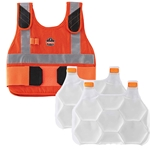 Chill-Its® Orange Premium FR Phase Change Cooling Vest with Packs