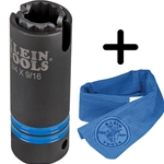 Klein 3-in-1 Slotted Impact Socket