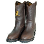 "Hall's 12"" Pull-On Waterproof Insulated Steel Toe EH Western Wellington Boot"