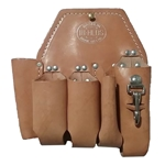 Bashlin 5 Tool Brown Leather Pouch