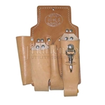 Bashlin 4 Tool Brown Leather Pouch