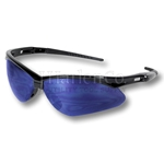 Nemesis Blue Mirror Wrap-Around Safety Glasses