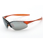 Crossfire Cobra Silver Mirror Lens With Crystal Orange Frame Safety Glasses