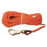 "Klein 5/16"" x 75Ft Handline Rope With Snap Hook"