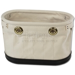 Heavy Canvas Oval Tool Bucket With 9 Pockets